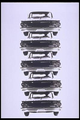 Photograph - 5 Autos Stacked On Top Of Each Other by Alfred Gescheidt