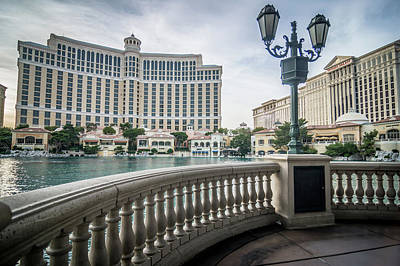 Photograph - Bellagio Hotel And Other Architecture In Las Vegas Nevada by Alex Grichenko