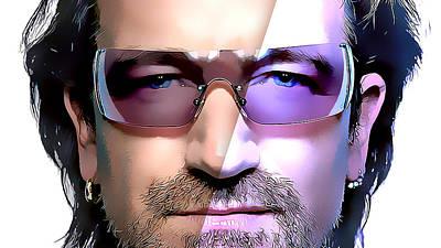 Bono Mixed Media - Bono U2 by Marvin Blaine