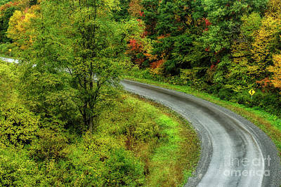 Photograph - Country Road In Autumn by Thomas R Fletcher