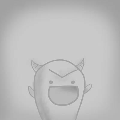 Music Figurative Potraits - Cute Monster by Jaime Enriquez