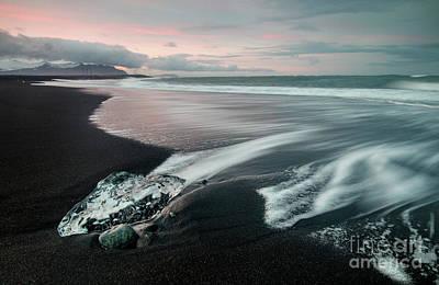 Wall Art - Photograph - Diamond Beach Iceland.. by Sebastien Coell