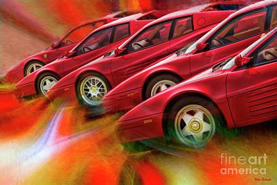 Photograph - 5 Ferrari Line Up by Blake Richards