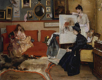 Painting - In The Studio by Alfred Stevens