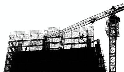 Photograph - Large Scale Construction In Outline by Yali Shi