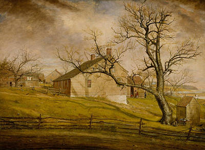 Painting - Long Island Farmhouses by William Sidney Mount