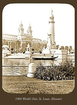 Photograph - Louisiana Monument, 1904 World's Fair by A Gurmankin