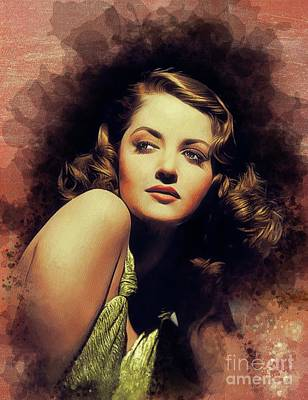 Namaste With Pixels - Martha Vickers, Vintage Actress and Pinup by Esoterica Art Agency