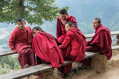 Photograph - 5 Monks On A Break by Ian Robert Knight