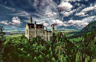 Zen Garden - Neuschwanstein Castle by Anthony Dezenzio