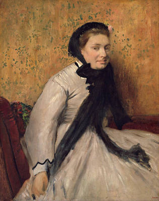 Painting - Portrait Of A Woman In Gray by Edgar Degas
