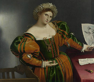 Painting - Portrait Of A Woman Inspired By Lucretia by Lorenzo Lotto
