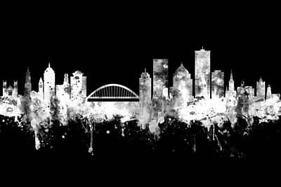 Digital Art - Rochester New York Skyline by Michael Tompsett