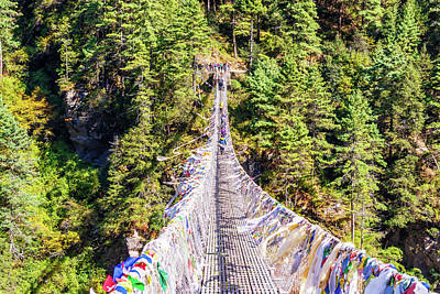 Kitchen Mark Rogan - Suspension bridge over deep gorge in Himalayan mountains, Nepal. by Marek Poplawski