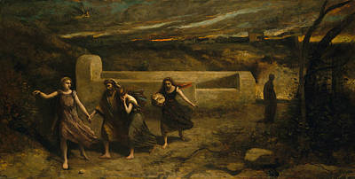 Painting - The Burning Of Sodom by Camille Corot