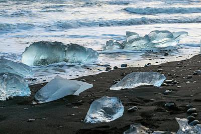 Photograph - The Diamond Beach, Jokulsarlon, Iceland by Dubi Roman