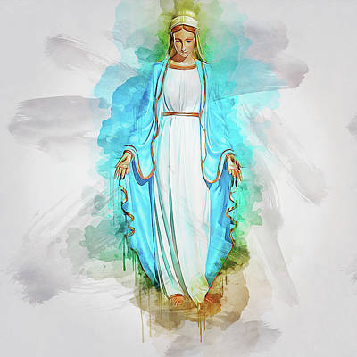 Digital Art - The Virgin Mary by Ian Mitchell