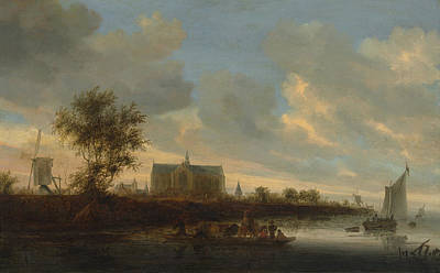 Painting - View Of The Town Of Alkmaar by Salomon van Ruysdael