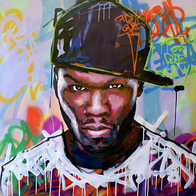 Jay Z Wall Art - Painting - 50 Cent by Richard Day