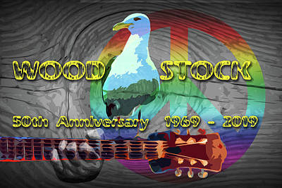 Randall Nyhof Royalty Free Images - 50th anniversary Woodstock Music Festival Royalty-Free Image by Randall Nyhof