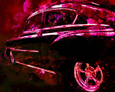 Digital Art - 53 Classic Chevy Sedan Former Leader Of The Band by Chas Sinklier
