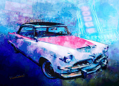 Digital Art - 55 Dodge Hemi Hardtop Ahead Of The Pack-mobile by Chas Sinklier