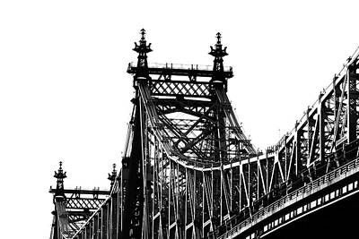 Photograph - 59th Street Bridge Monochrome by Cate Franklyn