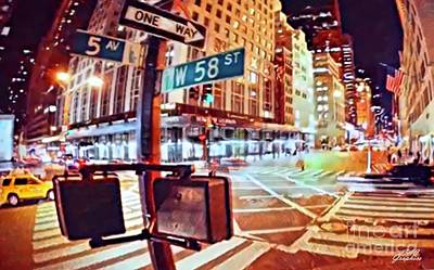 Digital Art - 5th Avenue Nyc by CAC Graphics