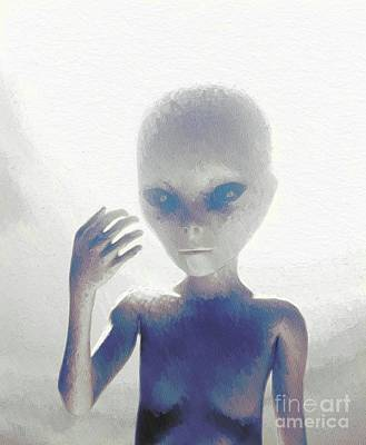 Science Fiction Royalty-Free and Rights-Managed Images - Alien by Raphael Terra