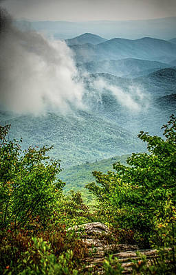 Photograph - Beautiful Scenic Views At Rought Ridge North Carolina Overlook by Alex Grichenko