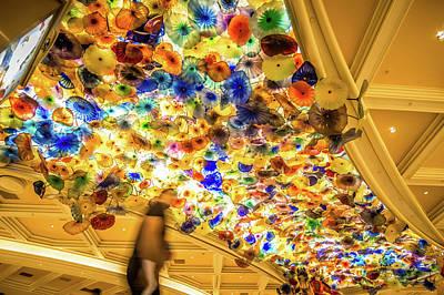Photograph - Bellagio Hotel Casino Las Vegas Indoor Decorations Autumn Season by Alex Grichenko