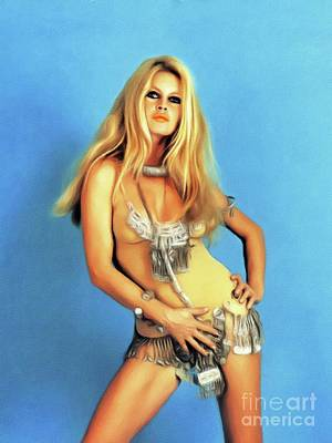 Royalty-Free and Rights-Managed Images - Brigitte Bardot, Actress by Esoterica Art Agency