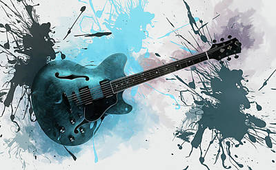Digital Art - Electric Guitar  by Ian Mitchell