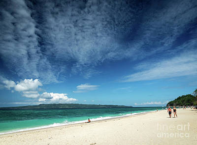 Mellow Yellow - Famous Puka Beach On Tropical Paradise Boracay Island In Philipp by JM Travel Photography