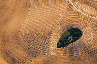 Photograph - Farmland Landscape, With Ploughed by Mint Images - Art Wolfe