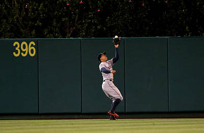 Photograph - Houston Astros V Los Angeles Angels Of by Stephen Dunn