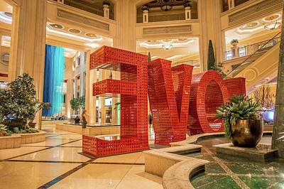 Photograph - Interior Halls And Decorations Around Las Vegas Nevada Hotels  by Alex Grichenko