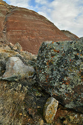 Photograph - Lichen Covered Boulders On Ruby Mountain by Ray Mathis
