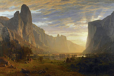 Painting - Looking Down Yosemite Valley by Albert Bierstadt