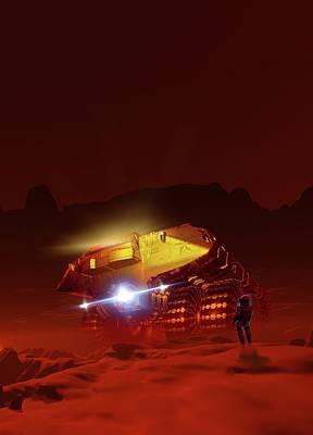 Digital Art - Mars Exploration, Artwork by Victor Habbick Visions