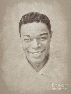 Jazz Drawings Royalty Free Images - Nat King Cole, Music Legend Royalty-Free Image by John Springfield