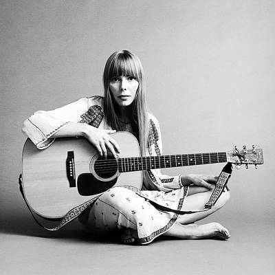 Human Interest Photograph - Portrait Of Joni Mitchell by Jack Robinson