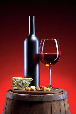 Photograph - Red Wine Composition by Valentinrussanov