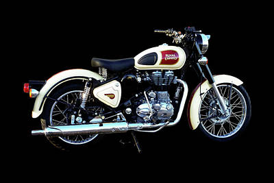 Mixed Media - Royal Enfield Classic 500 by Smart Aviation