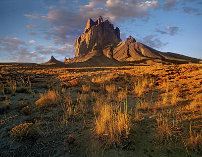 Photograph - Shiprock, The Basalt Core Of An Extinct by Tim Fitzharris/ Minden Pictures