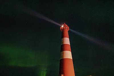 Photograph - Slettnes Lighthouse Under Aurora 6 by Arctic FineArt