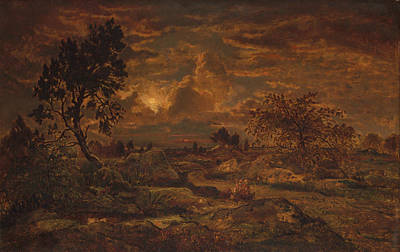 Painting - Sunset Near Arbonne by Theodore Rousseau