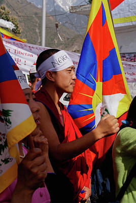 Amy Weiss - Tibetan Protest to return Tibet to Tibetans by Carol Ailles