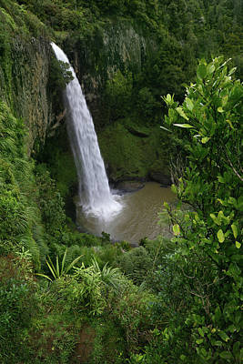 Photograph - Waterfall. New Zealand by Les Cunliffe