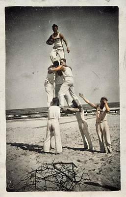 Thomas Kinkade - Beach Life of Youth 1900  by Artistic Panda